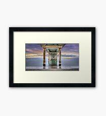 Under Brighton Jetty - South Australia Framed Print