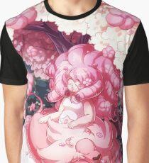 Rose und Löwe Grafik T-Shirt
