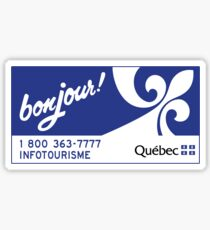 Welcome to Quebec, Canada Road Sign Sticker