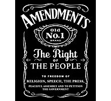First Amendment Whiskey Bottle Photographic Print