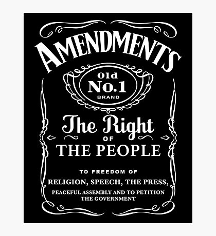 First Amendment Whiskey Bottle Photographic Print