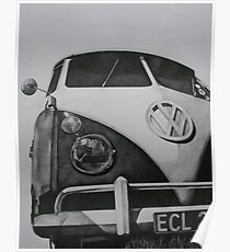Split Screen VW Camper Poster