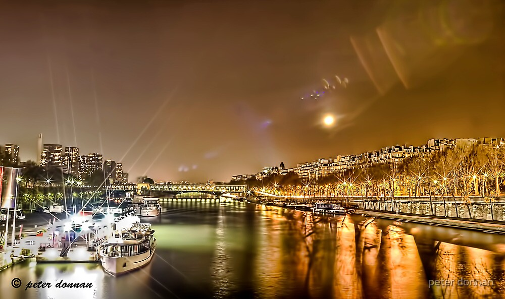 River Seine Paris by peter donnan