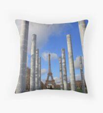 Pillars in Paris Throw Pillow