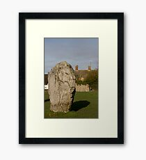 Faces in the Stones 2 Framed Print