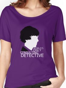 World's Only Consulting Detective V2 (for dark coloured tops) Women's Relaxed Fit T-Shirt