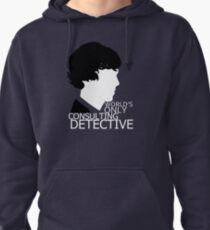 World's Only Consulting Detective V2 (for dark coloured tops) Pullover Hoodie