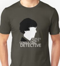 World's Only Consulting Detective V2 (for dark coloured tops) T-Shirt