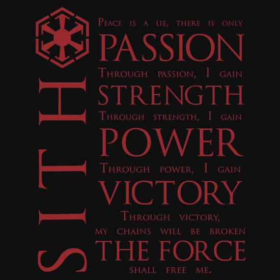 TShirtGifter presents: The Sith Code T-Shirt