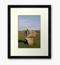 Faces in the Stones 5 Framed Print