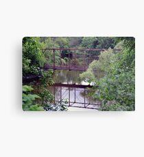 Bridge through Trees Metal Print
