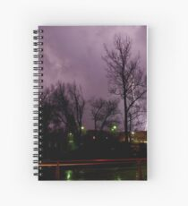 Lightning time lapse Spiral Notebook