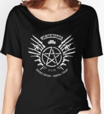 Winchester Coat of Arms (white logo) Women's Relaxed Fit T-Shirt