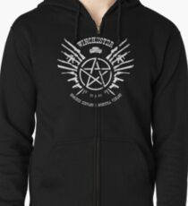 Winchester Coat of Arms (white logo) Zipped Hoodie