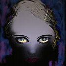 Blue Gaze - She's got Bette Davis eyes by Trish Loader