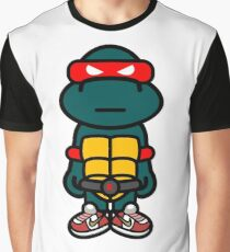 Red Renaissance Turtle Graphic T-Shirt