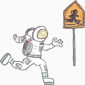 Astronaut Crossing by DrewSomervell