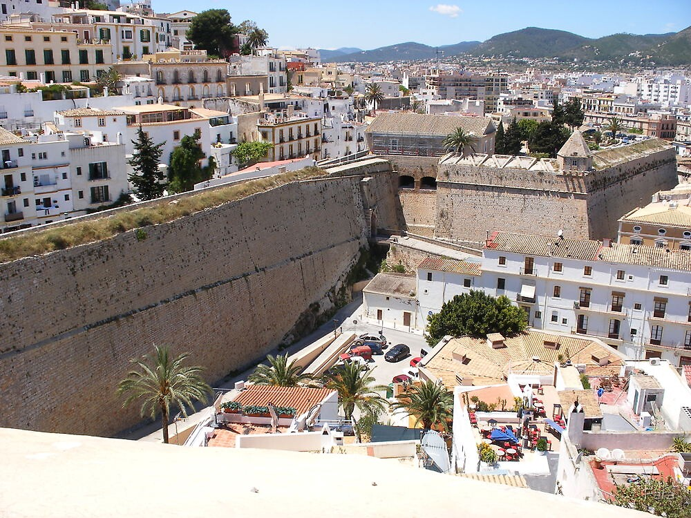 Looking Over Ibiza Town by Fara