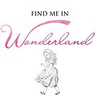 Find Me In... WONDERLAND by BehindthePages