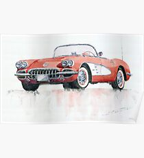 Chevrolet Corvette C1 1960 Poster