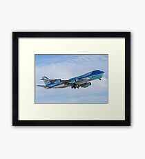 Side Shot of Air Force One Departing KCLE January 2012 Framed Print