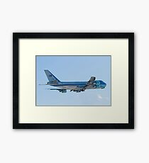 Rear Shot of 92-9000 Air Force One Departing KCLE January 2012 Framed Print