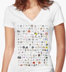 Meme Collage Women's Fitted V-Neck T-Shirt