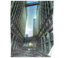 Wrigley Building at Sunrise Poster