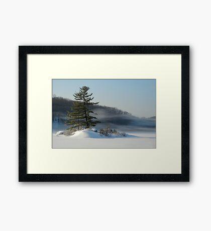 Little Long Pond In Winter Framed Print