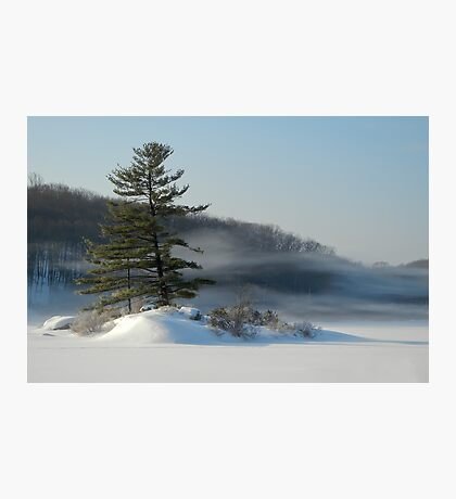 Little Long Pond In Winter Photographic Print