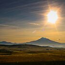Mt. Shasta on an early winter morning by photodivaanna