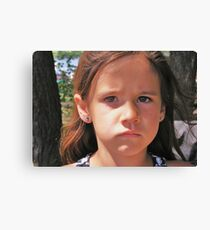 Sad Mouth Mia Canvas Print