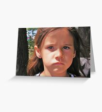Sad Mouth Mia Greeting Card