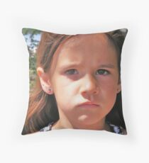 Sad Mouth Mia Throw Pillow