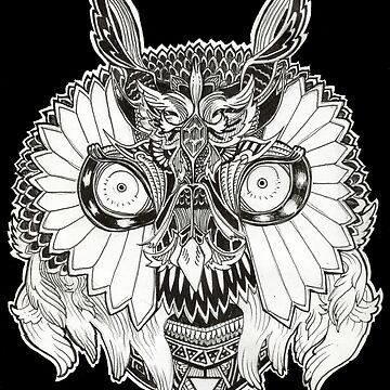 doodle owl by VitorAdler