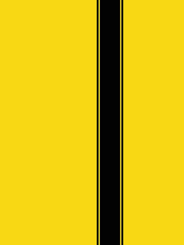 Racing Stripe - Negro sobre amarillo de ubiquitoid