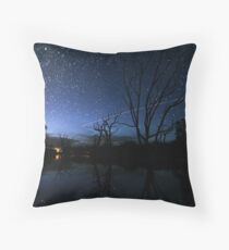 Space Station Meets Comet Lovejoy Throw Pillow