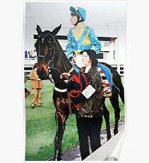 Richard Dunwoody at Sandown Park Poster