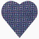 halftone heartblue by venitakidwai1