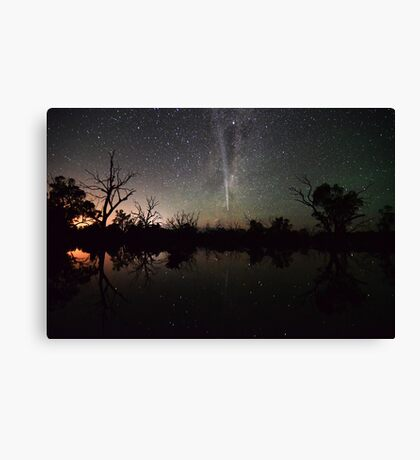 Comet Lovejoy Swamp Reflections Canvas Print