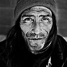 Meet Steven - American Indian - Homeless - BW by jphall