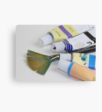 Brush with Acrylic Canvas Print