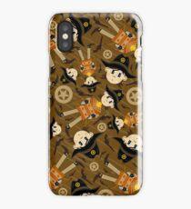 Cute Poncho Cowboy Pattern Illustration iPhone Case/Skin