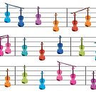 Colourful Violin Notes by SmeeDesigns