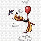 Aire-Balloon iPhone/iPod Case by offleashart