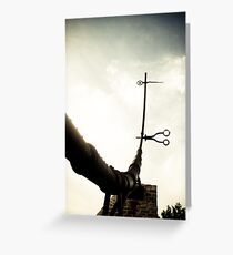 Abstract Zodiac Sculpture lomo Greeting Card