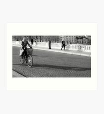 the cliched bicycle  shot,,,, Art Print