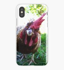 Curious chicken iPhone Case