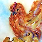 Hen and Chicks by Robin Spring Bloom