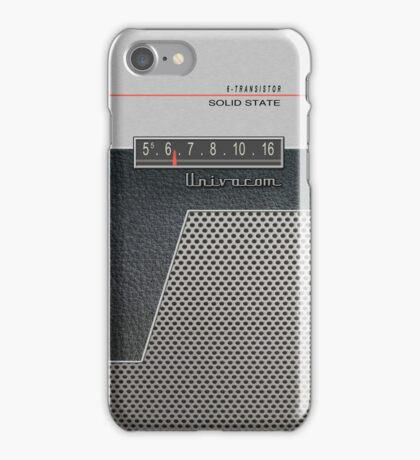 Transistor Radio - 60's Perforated iPhone Case/Skin